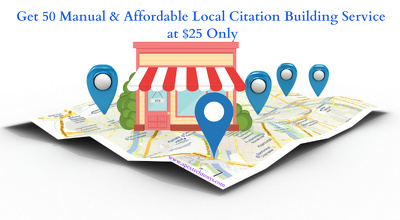 Get 50 Manual & Affordable Local Citation Building Service at Lowest Price
