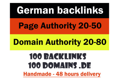 Get german backlinks from German DE authority pages