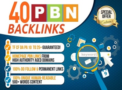 40 PBN Links - Permanent Dofollow Homepage SEO Backlinks