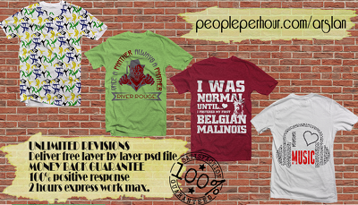 Design attractive trending typography T shirt designs