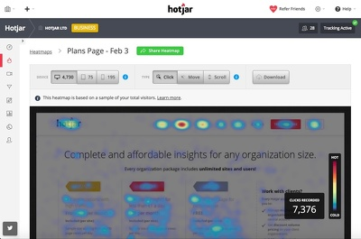 Integrate heatmap tool into your website
