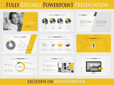 Design 10 slides editable Powerpoint presentation with unlimited revisions