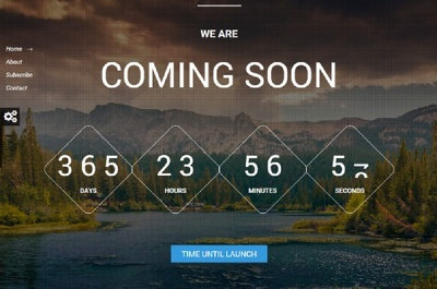 Design Awesome Coming Soon Page Or Under Construction Page with timer