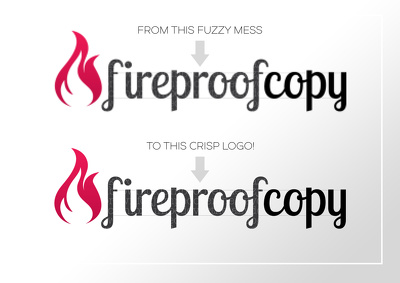 redraw your low quality logo and provide it in high resolution in any format