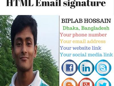 Professionally design HTML email signature