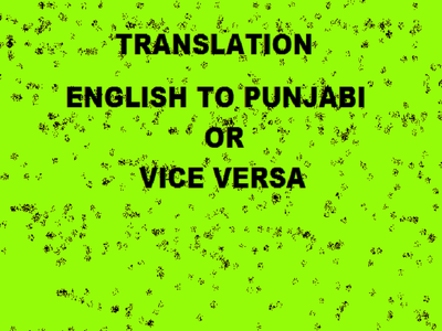 Translate1000 words English to Punjabi and Punjabi to English