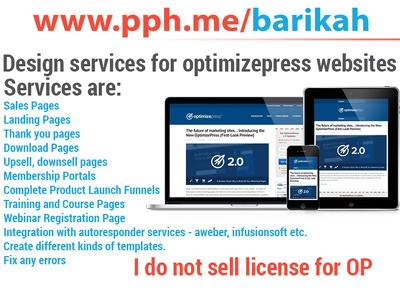Provide Design Services For OptimizePress
