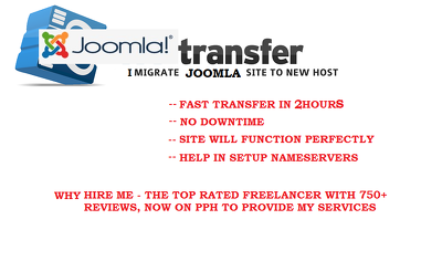 Migrate your Joomla site to new hosting/new domain