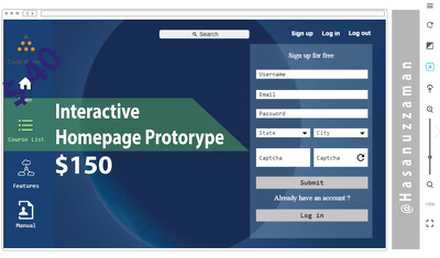 Design Interactive Homepage Prototype Ready for Programmer for Your Website
