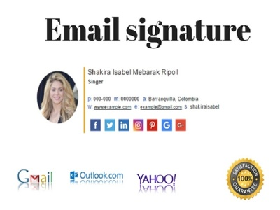 Professionally design HTML email signature