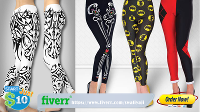 Create Legging, Tee Shirt Clothing Design, Illustrate A Custom Pattern Clothing Line