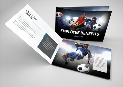 Design an 4 page brochure