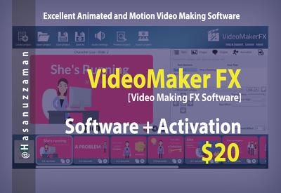 Provide VideoMaker FX Pro Version Software with Lifetime Activation
