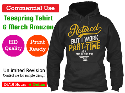 T-shirt Design for Teespring and Merch by Amazon Commercial Use