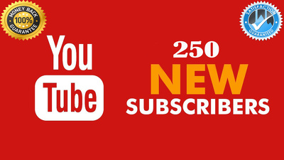 250+ YouTube Subscriber Non Drop Granted For Your Channel Social Media