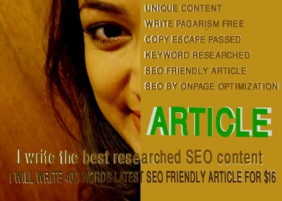 Write 400 words latest SEO friendly Article
