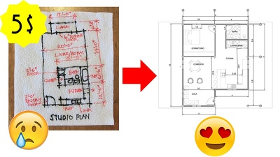 Turn your hand draw or sketch into an CAD file