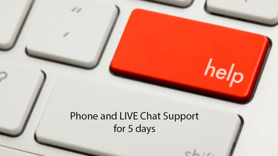 Provide customer support for incoming calls for 5 days