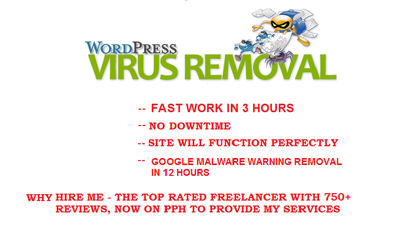 Remove all Malicious code from Hacked WP site/secure it
