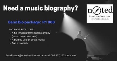 Write a professional bio for musicians