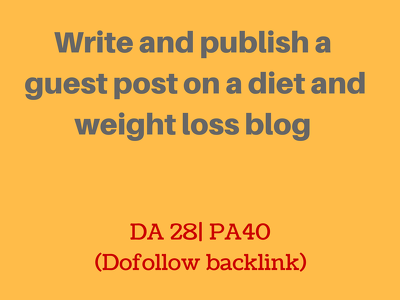 Write and publish a guest post on wisejug.com on diet/weight loss (DA 28)