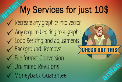 Recreate and edit any logo or graphics in vector high resolution