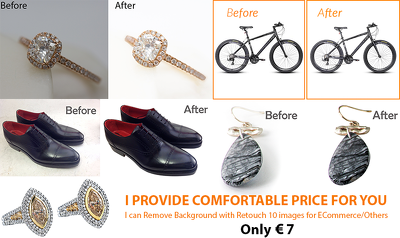 Clipping Path Service, Background Remove with Retouch 20 images for E-Commerce/Others