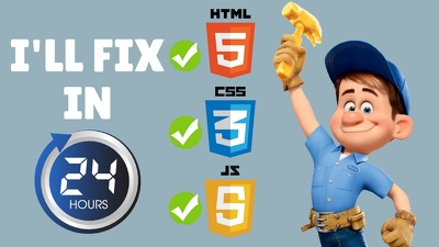 Fix Any HTML related issue In 24 Hrs