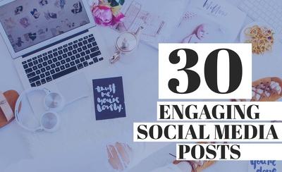 Create 30 visual social media posts