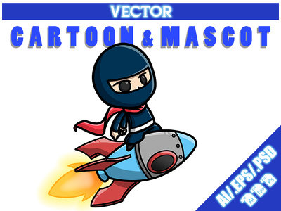 Professional vector Cartoon, Character or Mascot