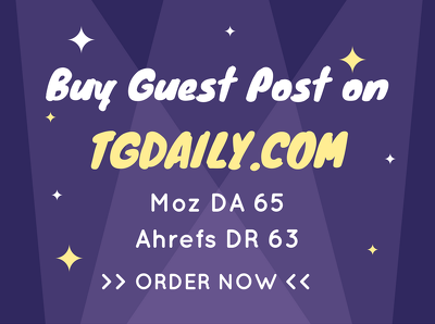 Write & publish dofollow guest post on Tgdaily , Tgdaily.com