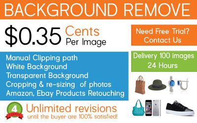 Do 100 easy images background removal or background replacement