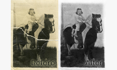 Restore an old photograph