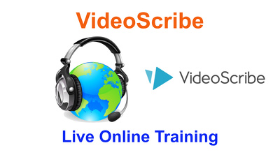 Deliver 1-to-1 live online training on Sparkol VideoScribe for  1 hour