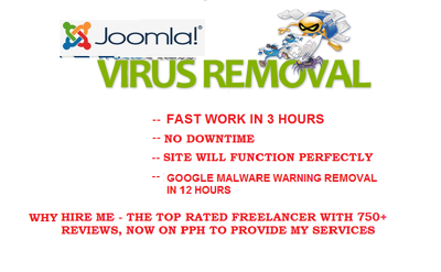 Remove all Malicious code from Hacked Joomla website