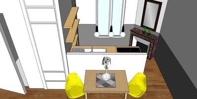 Provide interior 3D SKETCHUP views