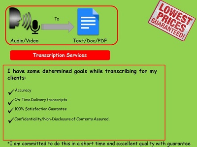 Provide Quality Transcripts For English/Hindi Audio Or Video of 20 Mins