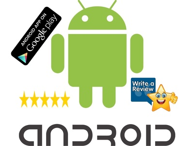 Downloads and Write 30 reviews with 5 star rating to your free android app on google