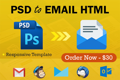 Code PSD to Responsive Mailchimp Email Template