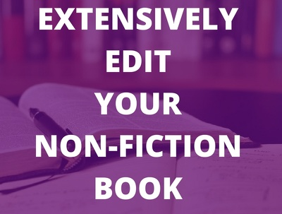 Extensively edit your eBook so it's ready to publish (10,000 words)