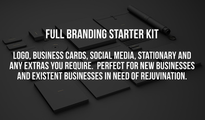 Produce your entire branding, social media, logo, stationary, business cards etc.