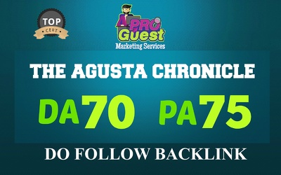 Write and publish a Guest Post on Chronicle.augusta.com – DA70, PA75