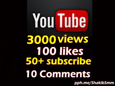 Add 3000 views, 100 likes, 50+ subscribers and 10 Comments to any YouTube video
