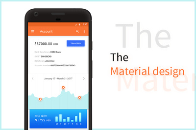 Design mobile app screens for Android Material design