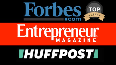 Guaranteed Interview on Forbes, Entrepreneur, Huffington