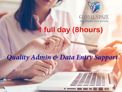 Do 1 day of quality admin & data entry work (8 hours)