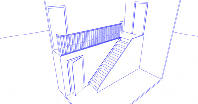 Design a bespoke staircase in CAD with 3D visuals and fully dimensioned drawings