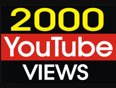send You 2000 High Quality Views Fully safe