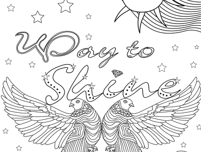 Create 3 adult coloring book within 3 days
