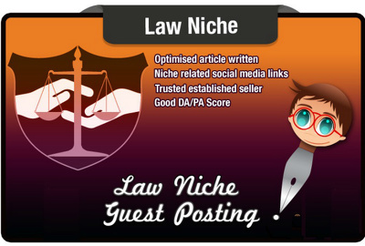 5x Write And Guest Post A LAW Niche Seo Optimised Article On A Law Related Site